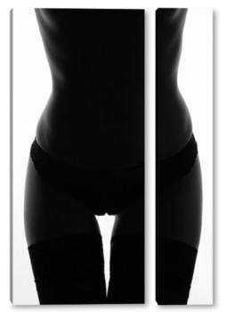 Модульная картина Силуэт девушки