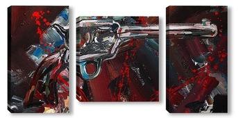 Модульная картина Револьвер