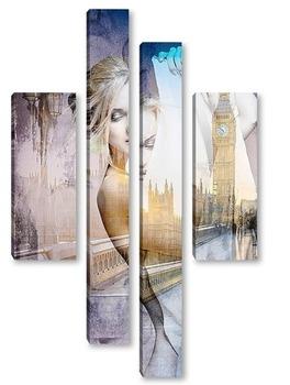 Модульная картина Лондонская мостовая