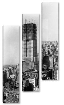 Модульная картина Строительство Эмпайер Стэйт Билдинг