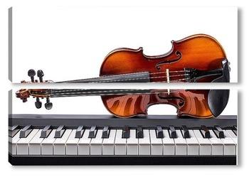 Модульная картина Клавиши и скрипка