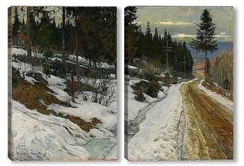 Модульная картина Зима в Ниттедал