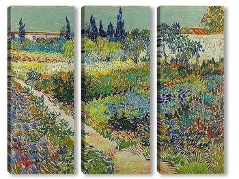 Модульная картина Сад с цветами