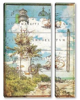 Модульная картина Знаменитый маяк в Ки-Бискейне, Майами