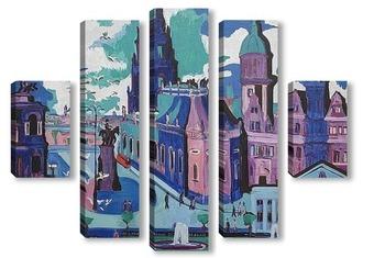 Модульная картина Вид на Дрезден