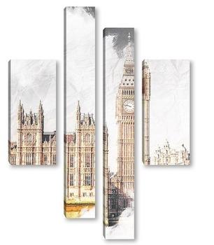 Модульная картина Биг Бен Лондон