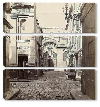 Модульная картина Улица Эрфурта, 1867