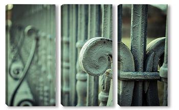 Модульная картина Старая ограда