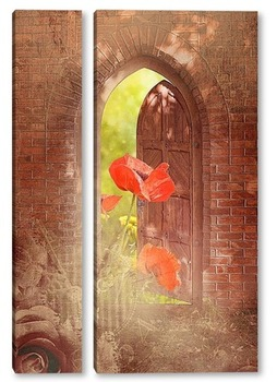 Модульная картина Дверь в сказку