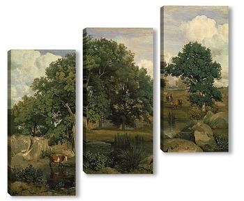 Модульная картина В лесу Фонтенбло