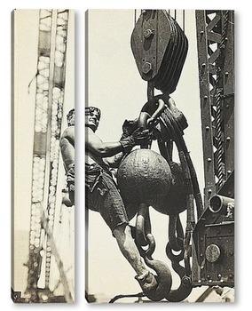 Модульная картина На высоте Эмпайр Стэйт, 1930