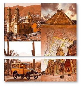 Модульная картина Загадочная Мексика