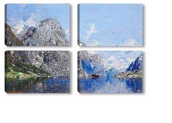 Модульная картина Норвежский фьёрд