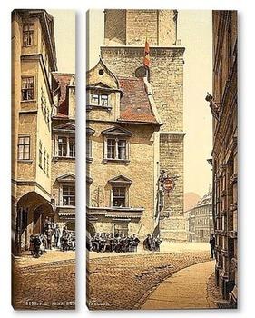 Модульная картина Тюрингия, Германия.1890-1900 гг