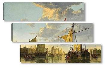 Модульная картина Маас в Дордрехте