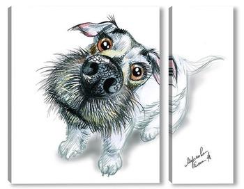 Модульная картина Любовь собаки2