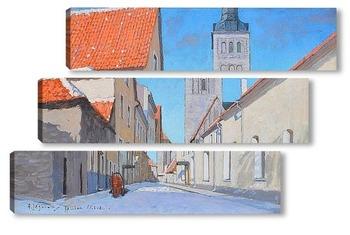 Модульная картина Вид на город, Таллин