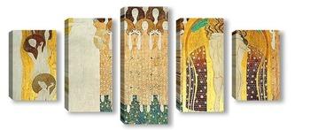 Модульная картина Бетховенский фриз - Поиски счастья находят отражение в поэзии (1
