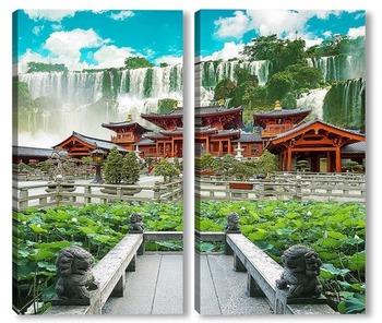 Модульная картина Красочный сад