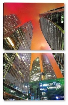 Модульная картина Центр столицы