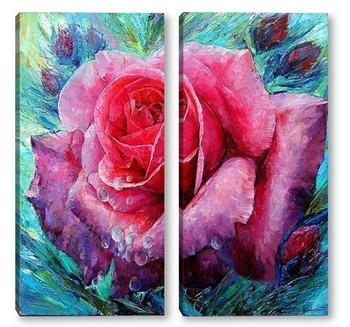 Модульная картина Утренняя роза
