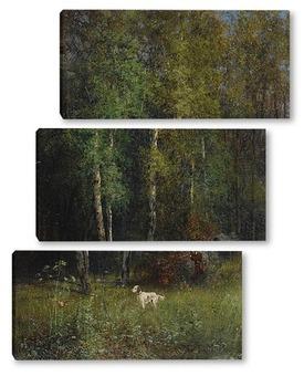 Модульная картина Охота в лесу