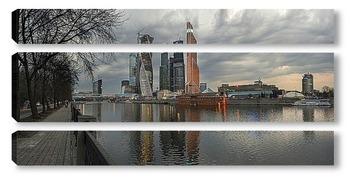 Модульная картина Панорама Москва-сити