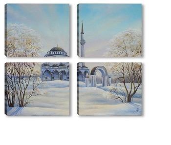 Модульная картина Мечеть города Верхняя Пышма