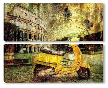 Модульная картина Скутер и Колизей