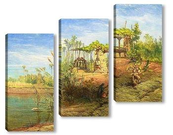 Модульная картина На берегу Нила