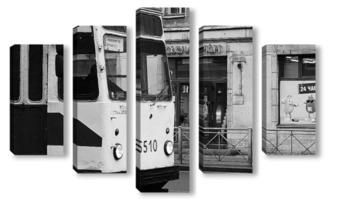 Модульная картина Трамвай