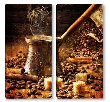 Модульная картина Турка с кофе