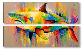 Модульная картина Акула