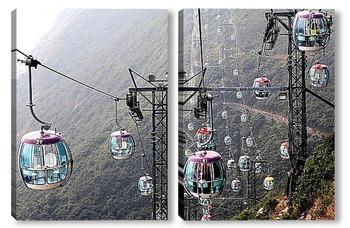 Модульная картина Китайские канатные дороги