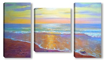 Модульная картина янтарный берег