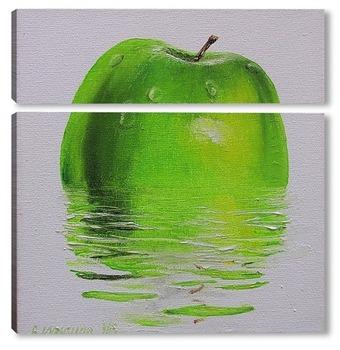 Модульная картина Яблоко в воде