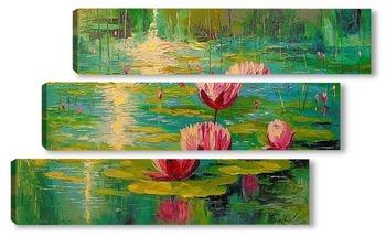 Модульная картина Пруд и лилии