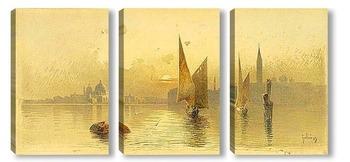 Модульная картина Вид Венеции на закате