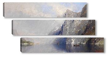 Модульная картина Норвежский фьорд пейзаж