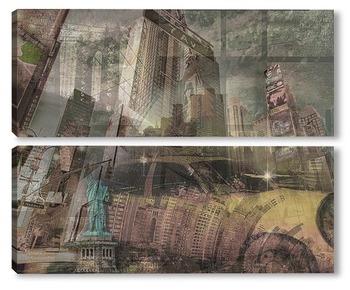 Модульная картина  New York grunge