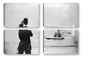 Модульная картина Киносьёмка первых полётов.