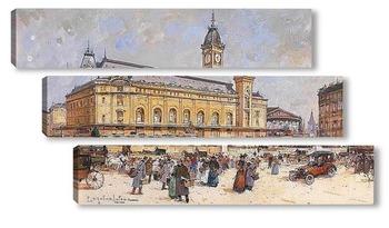 Модульная картина Вокзал Лиона