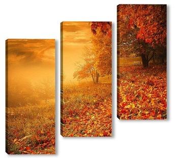Модульная картина Осенний туман