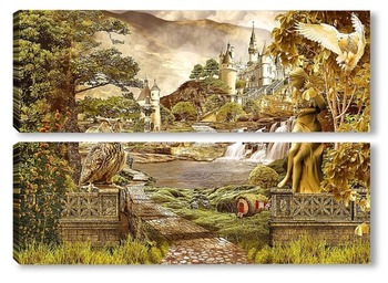 Модульная картина Сказочный пейзаж