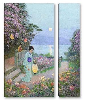Модульная картина Японский сад