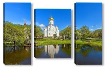 Модульная картина Храм Покрова Пресвятой Богородицы-Крупецкая церковь