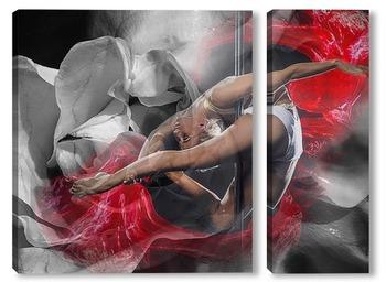 Модульная картина Девушка-танцовщица