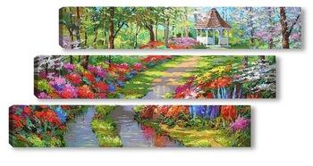 Модульная картина Сад мечты