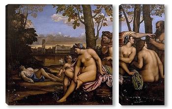 Модульная картина Гибель Адониса
