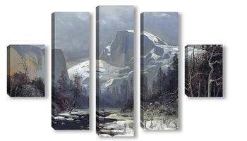 Модульная картина Зима в долине Йосемити